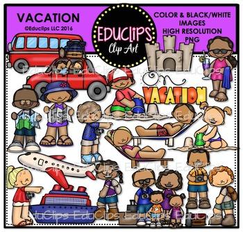 Vacation Clip Art Bundle {Educlips Clipart}
