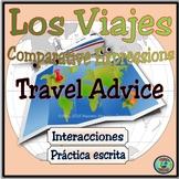 Travel Unit: Vacation Comparison Sentence Practice Worksheets - Los consejos