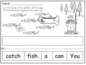 Kindergarten Vacation Days Math and Literacy Activities