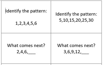 Vacation Dilemma- Counting, Number, & Shape Patterns