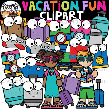 Vacation Fun Clipart {Summer Clipart}
