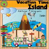 Vacation Island ClipArt