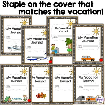 Vacation Journal for Your Absent Student with 40 pages of Choices (NO PREP)