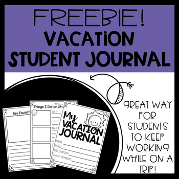 Vacation Journal Freebie