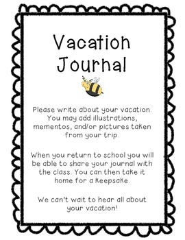 Vacation Journal - Writing Travel Log