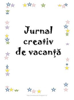 Vacation Journal in Romanian Language