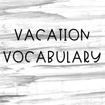 Vacation Vocabulary