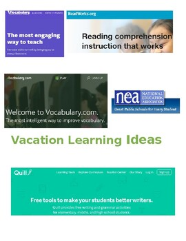 Vacation Learning Ideas Flyer