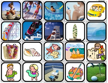 """""""Vacation"""" Picture Matching/Flashcards/Memory Game for Autism"""