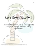 Vacation Planning Math Project