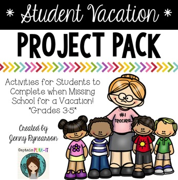 Vacation Project Pack! Ready-to-print work to send w/kids who are out of school!