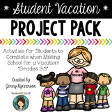 Vacation Project Pack! Ready-to-print work to send w/kids