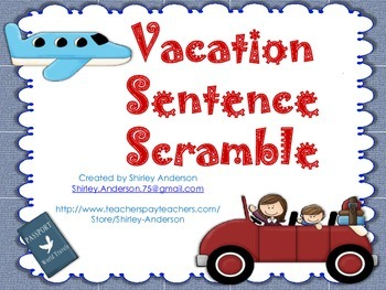 Vacation Sentence Scramble