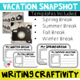Vacation Snapshot Craftivity with EDITABLE File