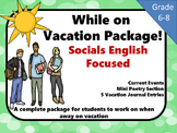 Vacation Student Package Socials and English Focused  Grad