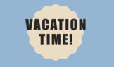 Vacation Time - Decimals Activity