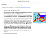 Vacation Time - Europe