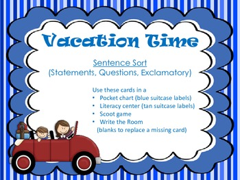 Vacation Time- Sentence Sort