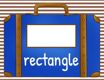 Vacation/Travel Theme: Shape Posters With Suitcases