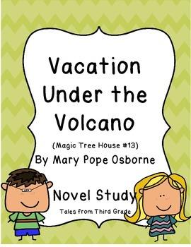 Vacation Under the Volcano Novel Study - Magic Tree House #13