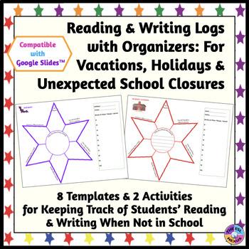 Vacation & Holiday Writing and Reading Logs (No Prep, Print & Go!)