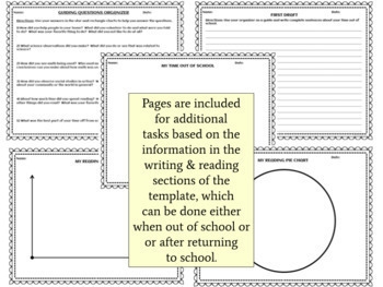 Vacation & Holiday Writing and Reading Logs (No Prep, Print & Go!)