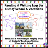Vacation & Holiday Writing and Reading Logs (No Prep, Prin