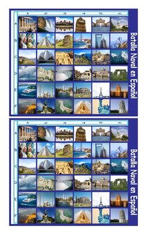 Vacation and Sightseeing Spots Spanish Legal Size Photo Battleship Game
