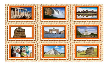Vacation and Sightseeing Spots Legal Size Photo Card Game