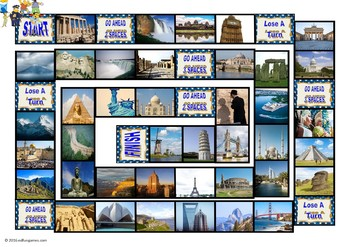 Vacations and Sightseeing Spots Animated Board Game