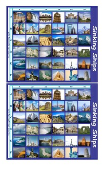Vacation and Sightseeing Spots Legal Size Photo Battleship Game