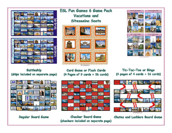 Vacations and Siteseeing Spots 6 Board Game Bundle