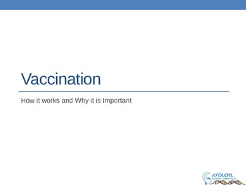 Vaccination - How and Why