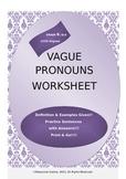 Vague Pronouns Worksheet