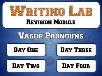 Vague Pronouns - Writing Lab Revision Module