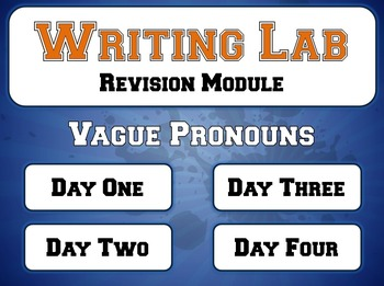 Vague Pronouns - Writing Lab Revision Module