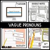 Vague Pronouns | Doodle Notes and Activity