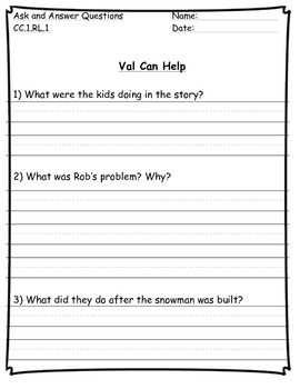 Val Can Help Houghton Mifflin Story
