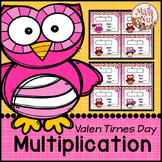 """Valentine's Day Math """"Multiplication Area Model"""" (2 digit by 1 digit)"""