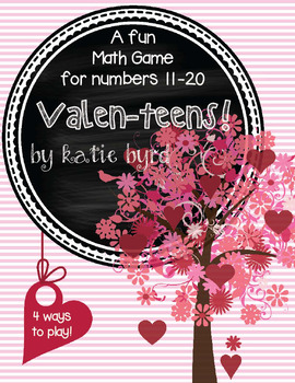 Valen-teens! A Math Game for numbers 11-20