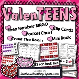 ValenTEENS --- Valentine's Teen Number Math Center Games for Numbers 11-20
