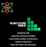Valence Electron and Lewis Dot Structure Warm Up