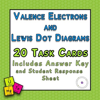 Valence Electrons and Lewis Dot Diagrams 20 TASK CARDS with Answer KEY