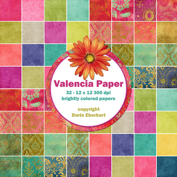 Valencia Printable Digital Paper