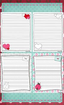 Valentine's Writing Templates - Journal Pages