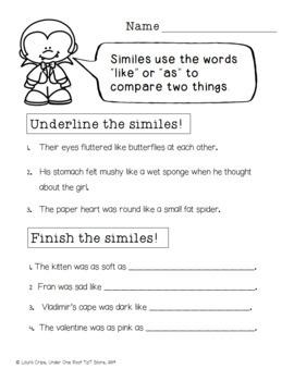 Valensteins: Literacy Activities