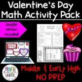 Valentie's Day Math Activities and Puzzles