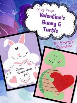 Valentine's Bunny & Turtle