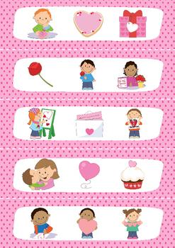 Valentijnsdag Verhaalstokjes + oefeningen om de taalontwikkeling te stimuleren