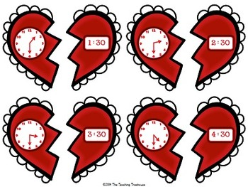 Telling Time ~ Valentine Activity